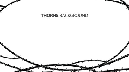 Abstract blackthorn horror with thorns background