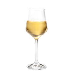 Foto auf Leinwand Alkohol glass of Passito wine isolated on white background
