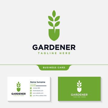 Gardener logo collections design inspiration vector, Lawn care, farmer, lawn service logotype, icon vector