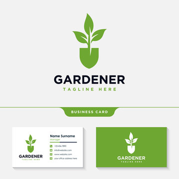 Gardener logo collections design inspiration vector, Lawn care, farmer, lawn service logotype, icon vector