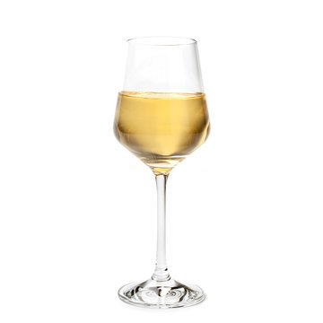 glass of  Passito wine isolated on white background