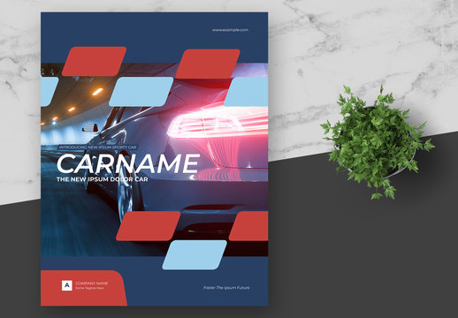 Product Technology Information Brochure with Red and Blue Elements