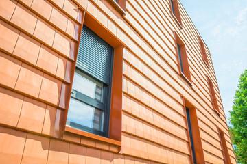 Bau Tonziegelfassade vorgehängte Tonplattenfassade