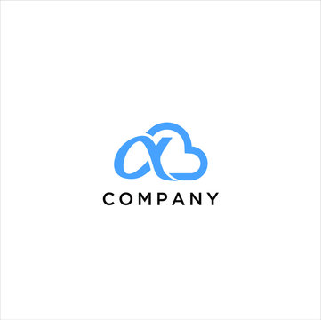 alpha cloud  logo design inspiration vector