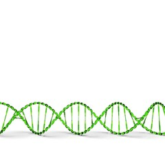 Dna sequence with its code structure 3d rendering