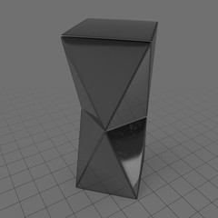 Chrome pedestal table
