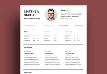 Resume with Three Column Layout