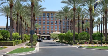 SCOTTSDALE, ARIZONA - JUNE 11, 2016: The Westin Kierland Resort and Spa main entrance. The luxury resort is located in Scottsdale, Arizona.