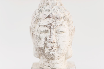 Simple Minimalist Buddha Photographed On white