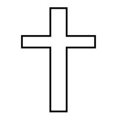 Christian Cross emblem. decorative logo isolated vector illustration. Religion and spirituality theme symbol.