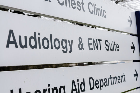 Sign at a hospital for Audiology and ENT Suite