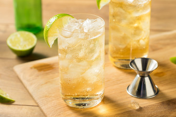 Homemade Bourbon Whiskey Ginger Lime