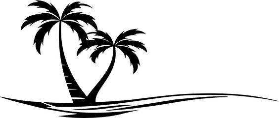 Beach Palm Skyline