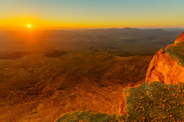 Sunrise view of Makhtesh (crater) Ramon