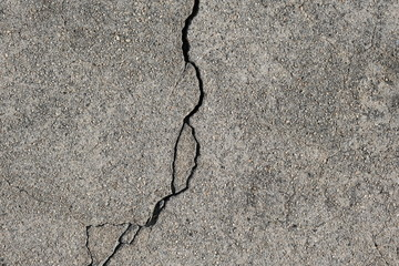 Crack in concrete on the streets of Los Angeles for interior design Fototapete