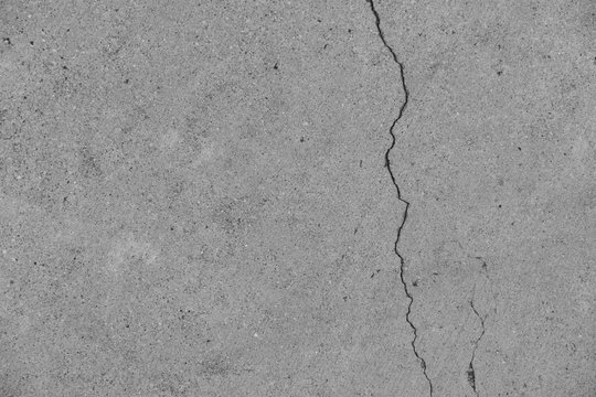 Crack in concrete on the streets of Los Angeles for interior design