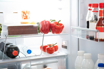 Refrigerator Full Of Healthy Foods