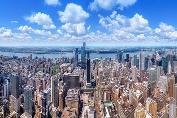 panoramic view at the skyline of new york