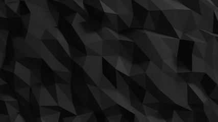 3d ILLUSTRATION, of abstract crystal background, triangular texture, wide panoramic for wallpaper Wall mural