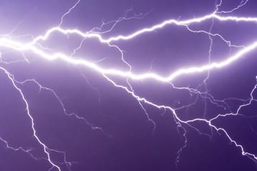 lightnings and thunder bold stike at summer storm