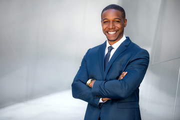 Portrait of male african american professional, possibly business executive corporate CEO, finance, attorney, lawyer, sales Wall mural