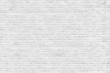 Old white brick wall background, wide panorama of masonry