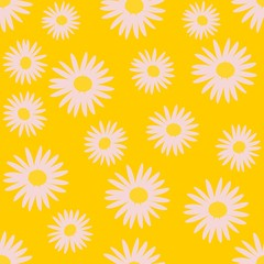 Seamless pattern of white daisy vector