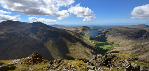 Looking down over Wast Water from Great Gables