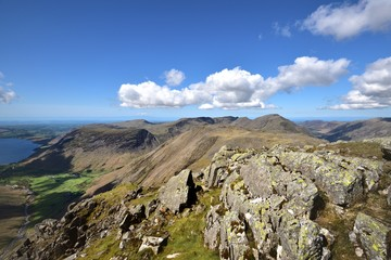 Clear day above the Wasdale Fells