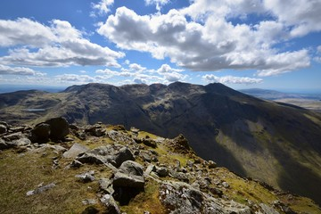 The highest mountains of England