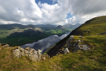 White clouds over Wasdale and Wast Water