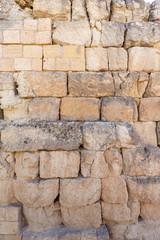 Wall made of stone bricks
