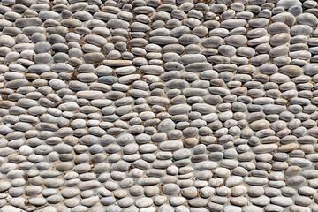 Round stone floor background