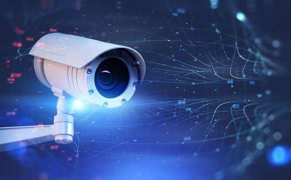 Surveillance street camera and network interface