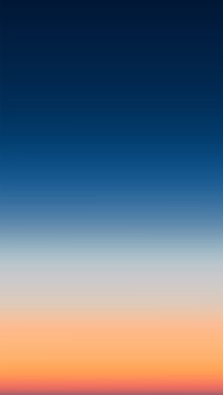 Abstract vertical aerial panoramic view of sunrise gradient mesh over ocean. Nothing but sky and water. Beautiful serene scene. Vector illustration