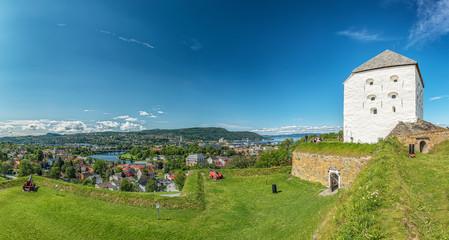 Trondheim Kristiansten Fortress Panorama Fototapete