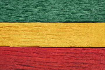 Background wood green, yellow, red old retro vintage style, rasta reggae flag