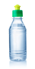 Plastic bottle of organic solvent