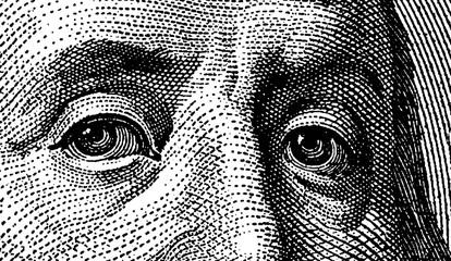 Eyes of Benjamin Franklin by CU