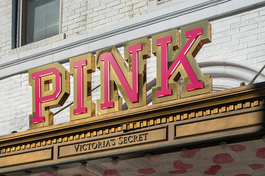Pink by Victoria's Secret Retail Store Exterior and Trademark Logo