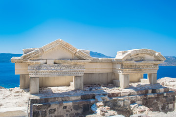 Ancient Roman theater constructed around 3rd BC in Milos island, Greece
