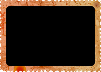 old grungy photo frame,empty photograph vector illustration,isolated on white background, free space for pics