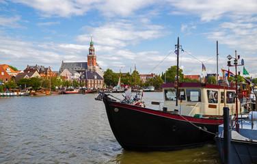 Leer Ostfriesland Rathaus Hafen Innenstadt