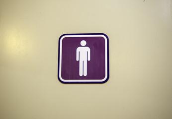 Men bathroom interior