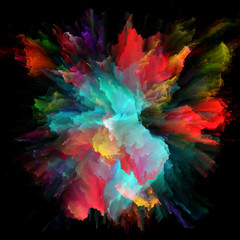 Numeric Colorful Paint Splash Explosion