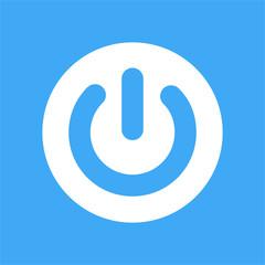 Electric power switch icon. Push button. Web element.  Shutdown logotype.