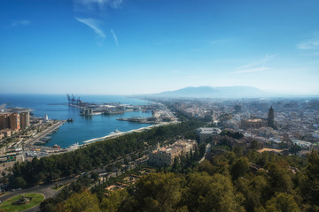 View of Malaga, Andalusia, Spain
