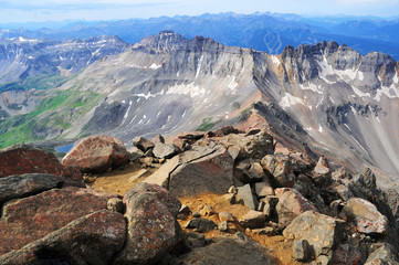 Alpine mountain landscape in San Juan Range, where many Colorado 14ers are located
