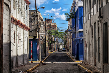 Streets of Kingston in Jamaica - the caribbean island