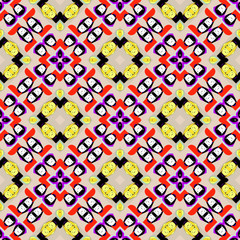 Seamless pattern with Egyptian Cats